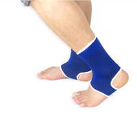 ankle brace - Hot Sale Pair Nylon Ankle Pad Protection Elastic Brace Guard Support Sports Gym Blue H14514