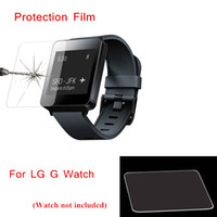 Wholesale NEW Breakage proof mm H Tempered Glass Screen Protector Film with Dust Cleaning Set for LG G Watch W100 PA1992