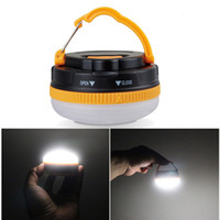 battery camp lantern - Mini Portable Outdoor Camping Lantern Hiking Tent LED Light Campsite Hanging Lamp Backpacking Emergency with Handle H14532