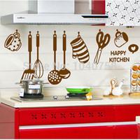 wall tile - Kitchen Wall Sticker Decal Kitchenware Wall Tile Stickers for Kitchen Home Decor Adesivo De Parede Kitchen Wall Decal Wallpaper