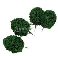 Wholesale New Brand New Dark Green Scenery Landscape Model Cedar Trees cm