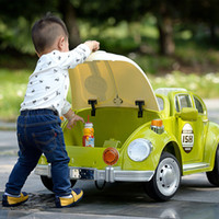 children ride on car - electric car for kids to ride on with remote control music beetle double door car baby children gift baby Christmas frozen ride on toy car