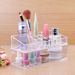 Wholesale High Quality Cosmetic Organizer Makeup Drawers Display Box Acrylic Clear Cabinet Cases Set