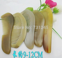 Wholesale 9 cm natural horn comb High quality yellow horn comb African horn comb