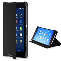 book flip - For SONY Xperia Z3 Compact Official Flip Leather Case M55W D5803 D5833 Book Cover With Retail Packing Z3 MINI Flip Casing