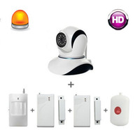 Wholesale Smart home kit home alarm system VS GSM alarm system IP camera door sensor pir motion sensor sos panic button