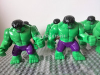 Wholesale cm minifigures big Hulk purple pants figures block toy Plastic Building Block Sets Action Figures model Christmas gift
