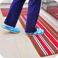 Wholesale Classic stripes thickening rub into the land of carpet floor MATS bathroom water extended MATS JD12