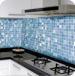 Wholesale Waterproof tile High grade aluminum foil Kitchen wall stick Resistance to high temperature lampblack Mosaic oil stick JE6