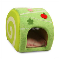 Wholesale 2014 New Fashion Cute Cake Dog Kennel House Pet Dog Cat Bed Cattery Warm Cushion Mat Pad Basket For Pup Young Dog Poodle