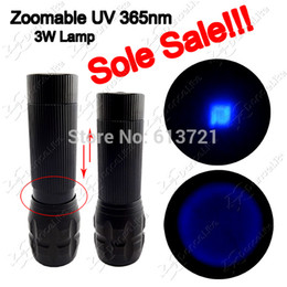 Wholesale Creative New Zoomable UV nm Lamp UltraViolet W M UV LED Flashlight Torch xAAA Powered