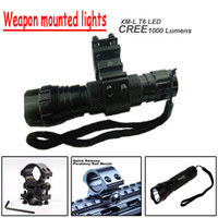 taser - UltraFire Taser B Mode Cree XM L T6 LED Tactical Flashlight Torch Weapon mounted lightswith mounts Pressure Switch