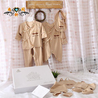 in season clothing - Baby organic colored clothes suit infant baby products seasons set in gift box factory