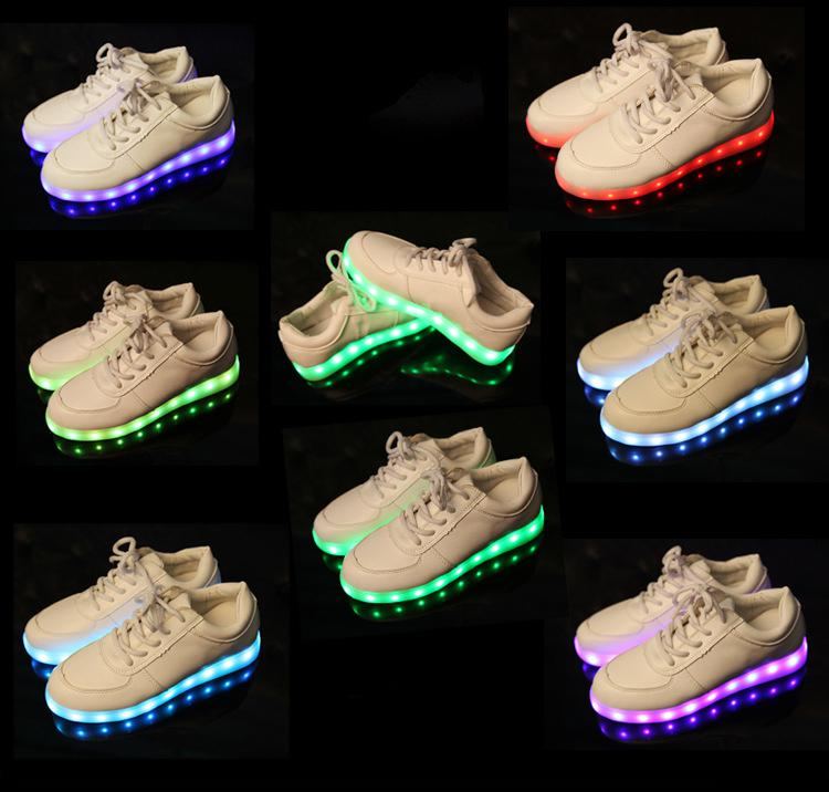 flower led Luminous women girl platform shoes light up sneakers for adults party shoes for women