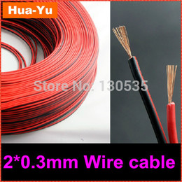 Wholesale m pins Red Black cable Tinned copper AWG PVC insulated wire Electronic wire extend wire for strip light