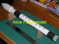Cheap Wholesale-[Alice papermodel] Long 75CM 1:72 US NASA SpaceX Falcon 9 rocket Satellite spaceship models