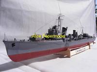 battleship wwii - Alice papermodel Long CM WWII Japan destoryers IJN Yukikaze battleship warship models