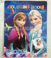 Wholesale cm Frozen Sticker Colouring Book Coloring Set Kids Drawing Toys Frozen Party Supplies frozen coloring book