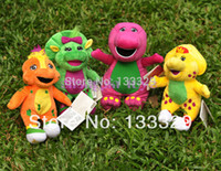 barneys electronics - cm singing Barney with freinds plush stuffed baby toys electronic dolls creative children birthday gift602