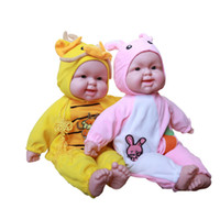 Cheap Wholesale-12 Styles Animal Zodiac Baby Doll Simulated Laughter Silicone Reborn Laughing Dolls Children's Toys Birthday Gift For babies