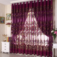 Wholesale Home decoration curtains for windows Burnt tulle craft curtain m Custom curtains for living room