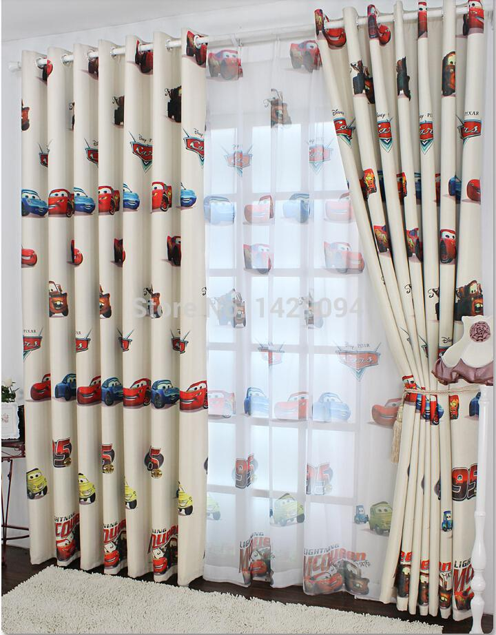 Wholesale cartoon window screening sheer colorful cars for Cheap childrens curtain fabric