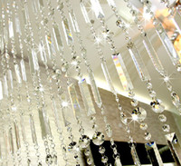 door beads - Curtain crystal bead curtain finished product partition lobby living room bed room curtain