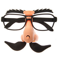 Wholesale Funny Big Nose Groucho Marx Glasses with Moving Eyebrows and Moustache