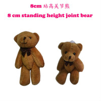 Wholesale brown colors cm height plush mini joint bear stuffed miniature jointed bear