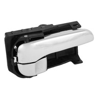 car door handle - Black Silver Tone Inside Right Inner Car Door Handle P010 for Nissan