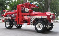 Cheap Wholesale-Free Shipping DECOOL 3327 LARGE 680Pcs Fire Tow Truck car model Enlighten Plastic building blocks sets educational children toys