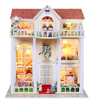 fairy furniture - Creative Wooden Toy DIY House Dream Fairy Century verde Model Building Kit Furniture Doll house Toy for gifts