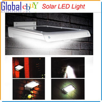 Wholesale 46 LED Solar Power Motion Sensor Garden Security Lamp Outdoor Waterproof Ultra thin Porch Lights For Home Garden Outdoor