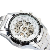 brand name watches - New Design Fashion Clock Men Skeleton Automatic Mechanical Watch Brand Name Watch TM340