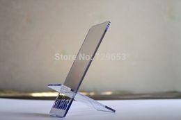Acrylique téléphone cellulaire écran support amovible mobile stand-Clear gros pour samsung téléphone 20pcs à partir de détenteurs de téléphones mobiles acryliques fabricateur