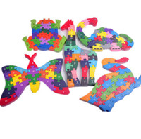 abc animal puzzle - Wooden animal Puzzle Children Kids Alphabet Letter Mathemetics Number ABC Jigsaw Toy Digital HT144