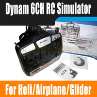 Cheap Wholesale-Dynam 6CH USB RC Flight Simulator For Rc Helicopter Airplane Glider work with vista win7