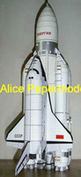 Cheap Wholesale-[Alice papermodel] Tall 70 CM Russia Buran space shuttle Energia rocket spaceship jet fighter aircraft plane models