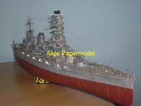 battleship models - Alice papermodel Long meter World War II Japan battleship IJN Fuso ship models