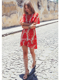 Wholesale-2015 for love and lemons dresses short sleeve red and white color