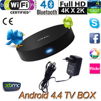 2g plugs - 4K Android TV Box Quad Core Miracast Measy B4A H G GB XBMC D Blu ray Media Player EU Plug Tv Receivers V651