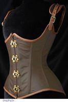 Cheap Women Slimming underwear Waist Cincher Body Shaper, Grand Steampunk Leather Clasp Buckle Under bust Corset LC5323 Free Shipping