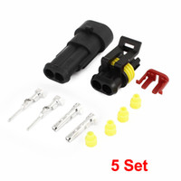 auto positioning - 5 Kits Pin Positions Sealed Waterproof Cable Connectors Plugs for Car Auto