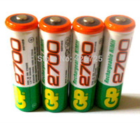 Cheap Best price!!! 8pcs Lot Hot sale battery GP 1.2V NiMh AA 2700 mAh battery rechargeable AA for free shipping