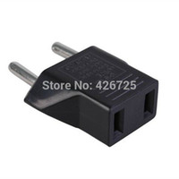 Wholesale 100pcs Universal US To EU Plug USA To Euro Universal Travel Wall AC Power Charger Outlet Adapter Converter