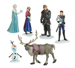 Wholesale 6 FROZEN Figure Figurine Play Set Playset cake toppers Doll Toy