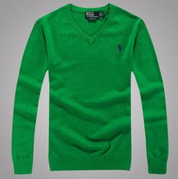Wholesale blue POL men s cotton V neck sweater men sweater men sweater multicolor size S XXXL