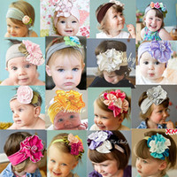 toddler jerseys - Cotton candy Jersey Flower Headband For Baby Girl Newborn Infant Toddler Photography photo prop HB254