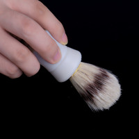 Wholesale 1pcs Shave Shaving Brush Plastic Handle and Pig Boar Bristle Beard Mustache Brush Hair Removal Face care H13463