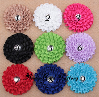 Wholesale Infant Rolled Fabric Flower with Acrylic for Baby Headband Headwear Girls Hair Accessories Handmade Craft FL045